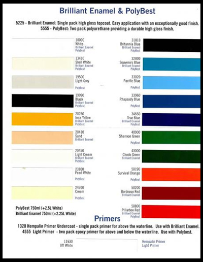 Color Charts All Marine Paint